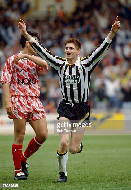 2nd June 1991 Division 2 Play Off Final at Wembley Brighton and Hove Albion 1 v Notts County 3 Tommy JohnsonNotts County's 2 goal hero