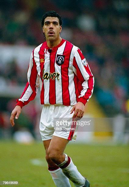 30th February 1993 Premier League Sheffield United 1 v Queens Park Rangers 2 Chris Kamara Sheffield United