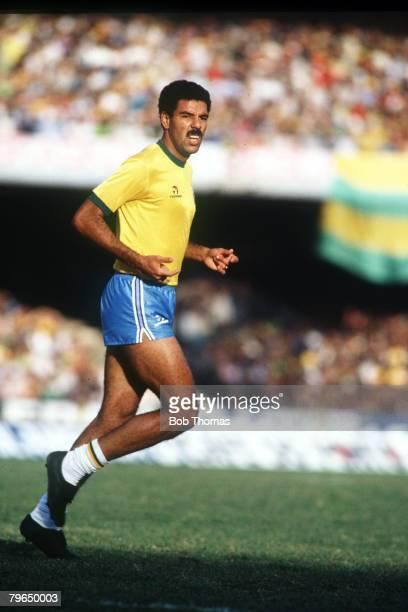 30th June 1985 World Cup Qualifier in Sao Paulo Brazil 1 v Bolivia 1 Toninho Cerezo Brazil