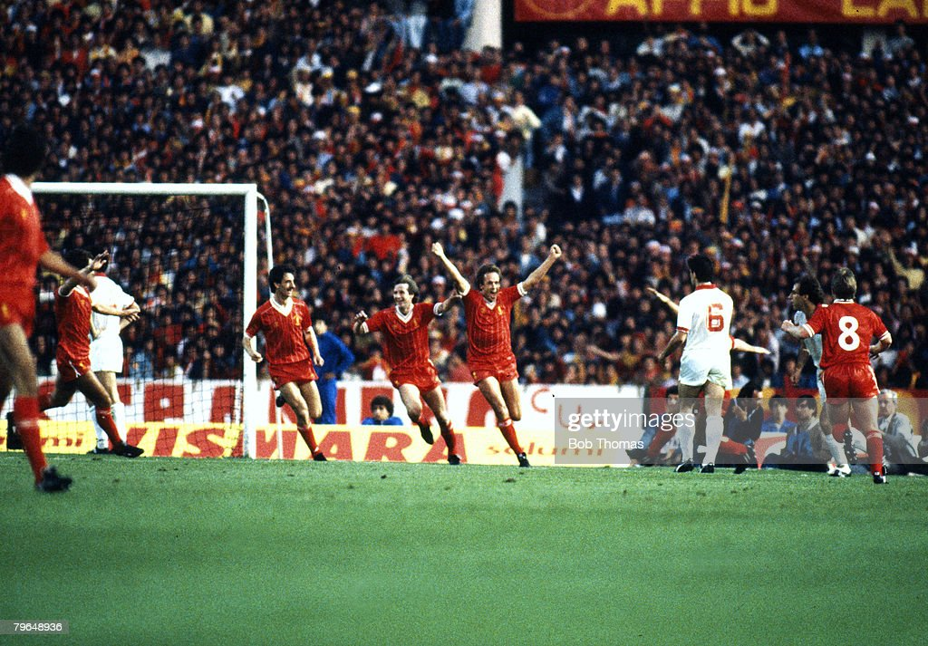 Sport, Football, pic: 30th May 1984, 1984 European Cup Final in Rome, Liverpool 1 v Roma 1 : Nachrichtenfoto