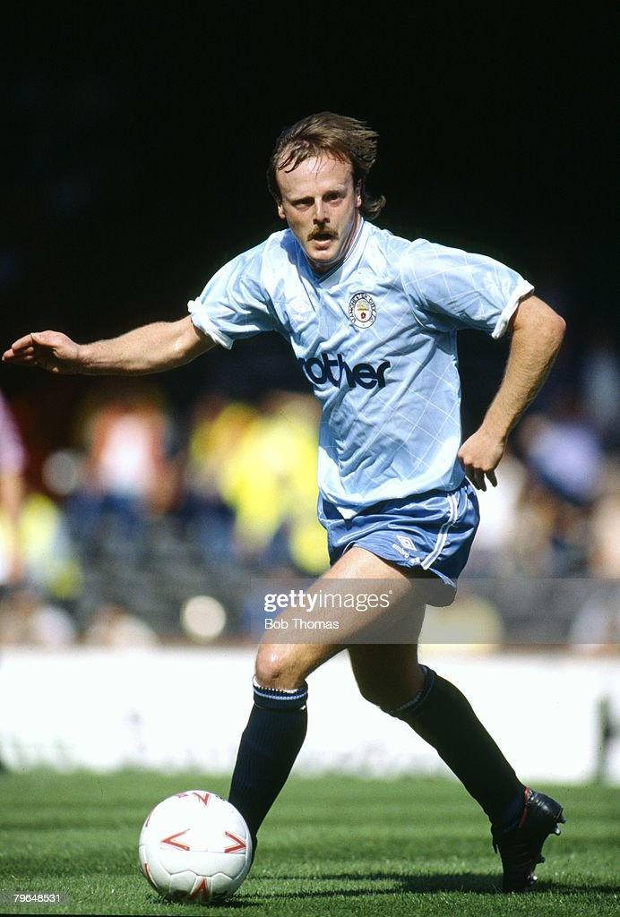 BT Sport, Football, pic: 31st August 1987, Division 1, Neil McNab, Manchester City 1983-1987 : News Photo