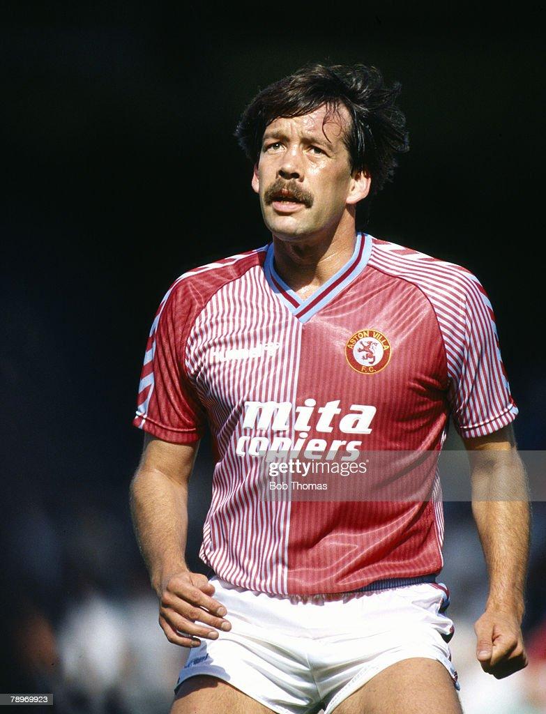 Sport. Football. pic: 31st August 1987. Division 1. Steve Sims, Aston Villa central defender. : News Photo