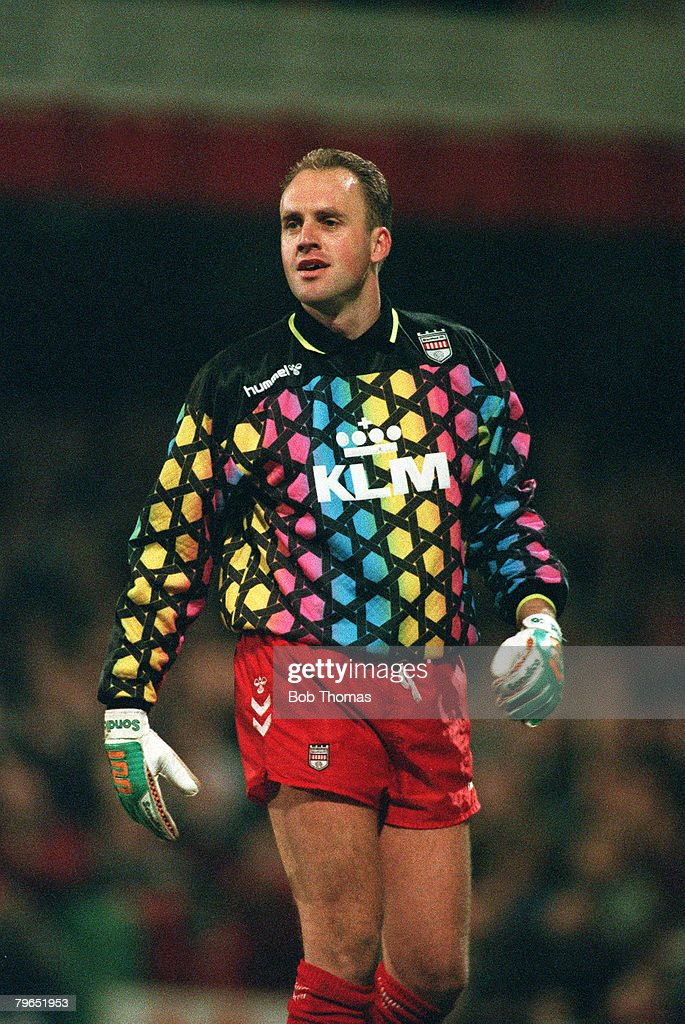 Sport, Football, pic: 3rd February 1993, Graham Benstead, Brentford goalkeeper, formerly with Norwich City : News Photo