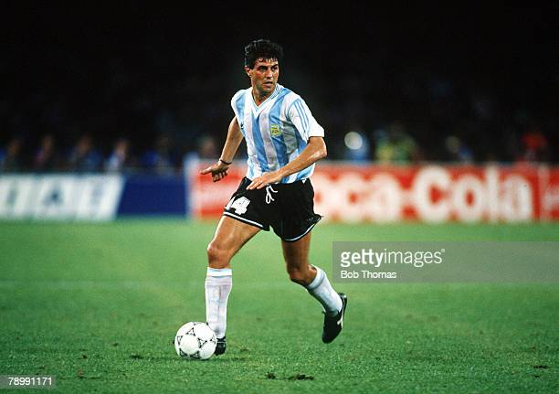 3rd July 1990 Naples 1990 World Cup SemiFinal Argentina beat Italy 32 on penalties Ricardo Giusti Argentina