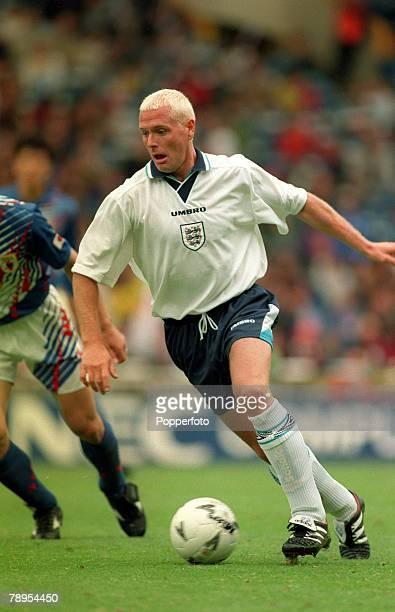 3rd June 1995, Friendly International at Wembley, England 2, v Japan 1, Paul Gascoigne, England, Paul Gascoigne played for the England team 1989-1998...