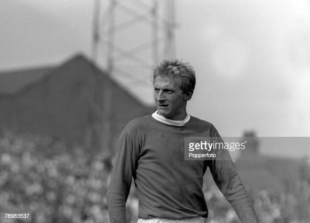 5th September 1964 Fulham v Manchester United at Craven Cottage Denis Law Manchester United striker