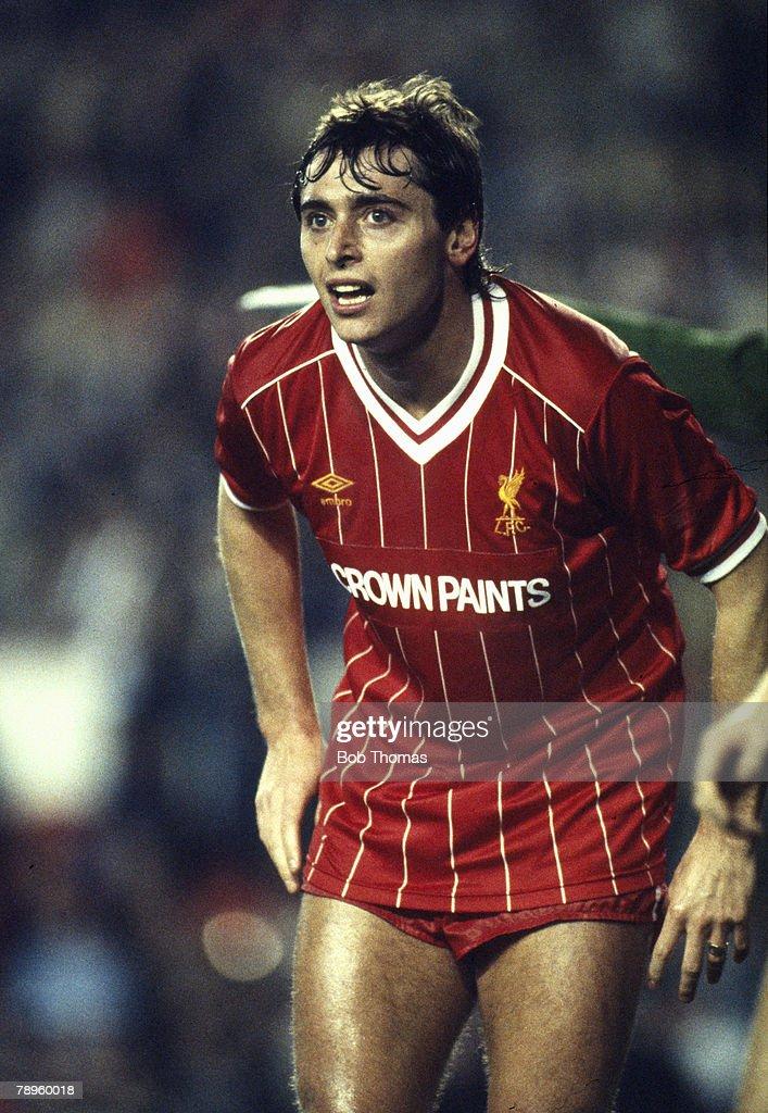 Sport. Football. pic: 6th January 1984. FA. Cup 3rd Round. Michael Robinson, Liverpool striker. Michael Robinson also won 24 Republic of Ireland international caps between 1981-1986. : News Photo