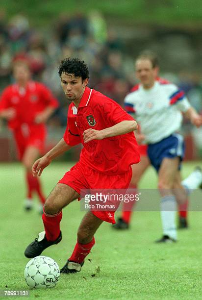 6th June 1993 World Cup Qualifier Faroe Islands 0 v Wales 3 Ryan Giggs Wales
