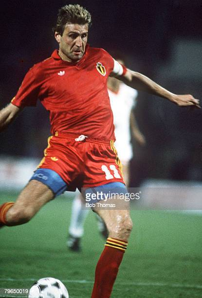 6th September 1989World Cup Qualifier in Brussels Belgium 3 v Portugal 0 Jan Ceulemans Belgium He played for his country from 19771990 in 3 World...