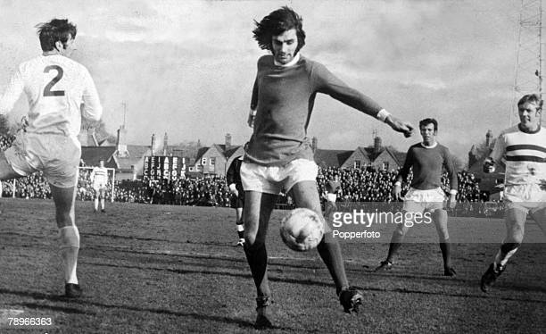 7th February 1970 FA Cup 5th Round at the County Ground Northampton Northampton Town 2 v Manchester United 8 Manchester United's George Best who...