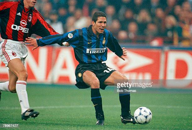 8th November 1998 Italian League Serie A Milan AC Milan 2 v Inter Milan 2 Diego Simeone Inter Milan