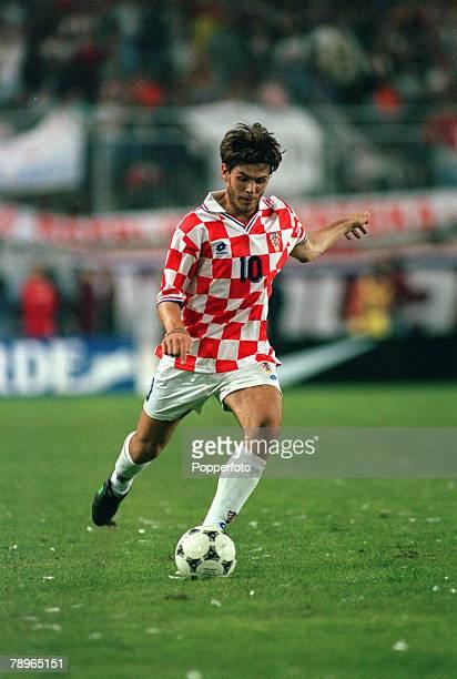 8th October 1995 European Championship Qualifier Split Croatia 1 v Italy 1 Zvonimir Boban Croatia