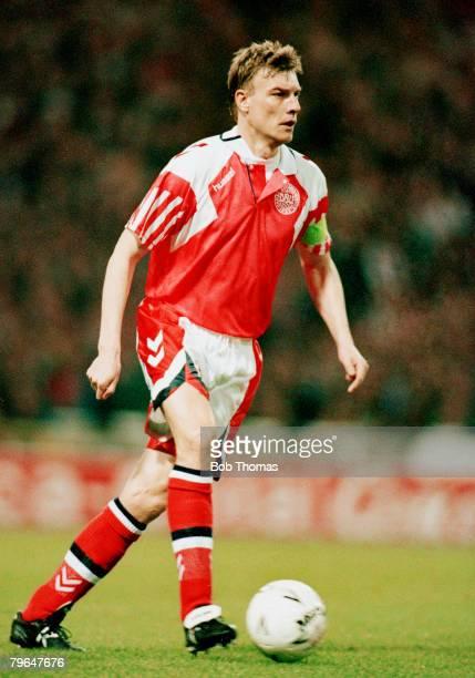 9th March 1994 Friendly International at Wembley England 1 v Denmark 0 Lars Olsen Denmark