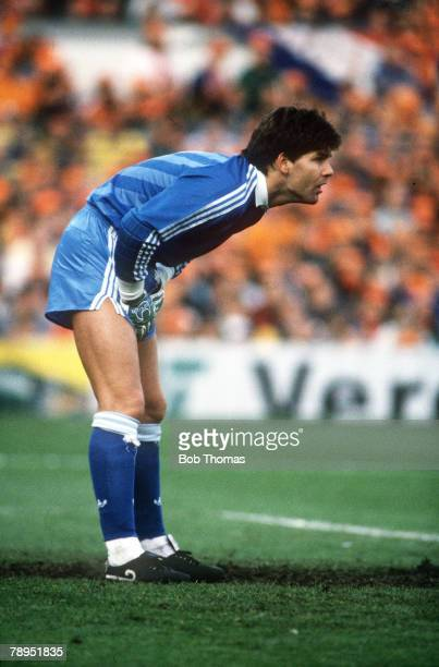 April 1989 World Cup Qualifier in Rotterdam Joop Hiele Holland goalkeeper