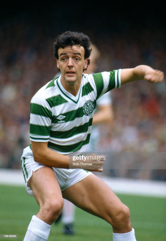 BT Sport, Football, pic: August 1984, Scottish Premier Division, Frank McGarvey, Celtic striker, who won 7 Scotland international caps between 1979-1984 : News Photo