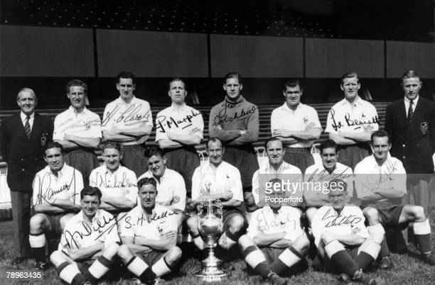 circa 1951 Tottenham Hotspur Division 1 League Champions season 19501951 Alf Ramsey is middle row far left Eddie Bailey front row 3rd right Arthur...
