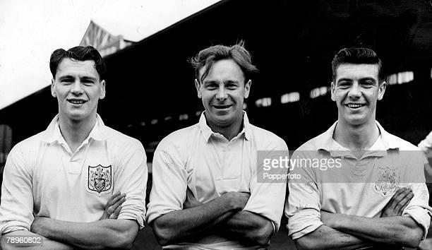 circa 1955 Fulham stars leftright Bobby Robson Bedford Jezzard Johnny Haynes