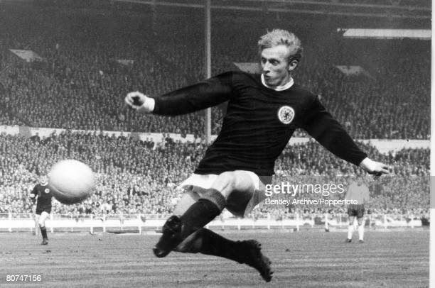 circa 1967 England v Scotland at Wembley Denis Law Scotland striker Denis Law won 55 Scotland international caps between 19591974