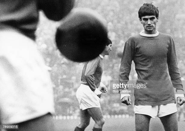 circa 1968 Manchester United and Northern Ireland 'superstar' George Best pictured during a game at Old Trafford