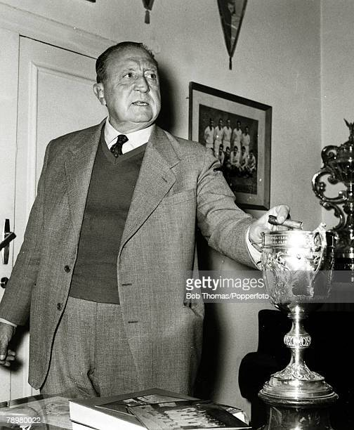 Circa 1970, Real Madrid President Santiago Bernabeu, He was the Club President from 1943-1978, The famous Madrid Stadium was renamed in in his...