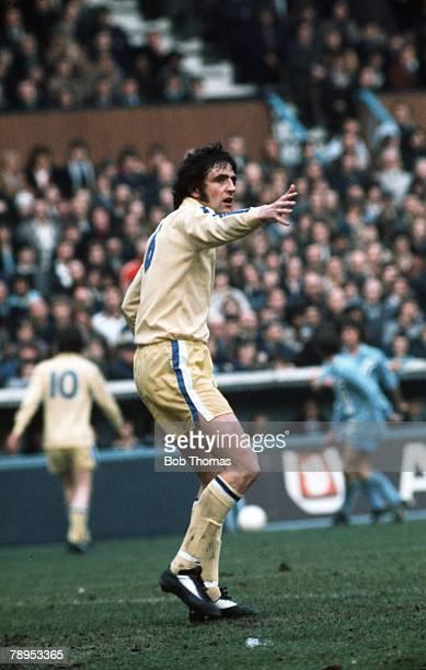 circa 1975 Norman Hunter Leeds United The Leeds United star won 28 England international caps between 1966 and 1975