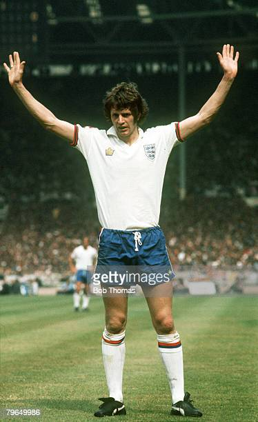 Circa 1977, Mike Channon, England, who won 46 international caps between 1973-1978