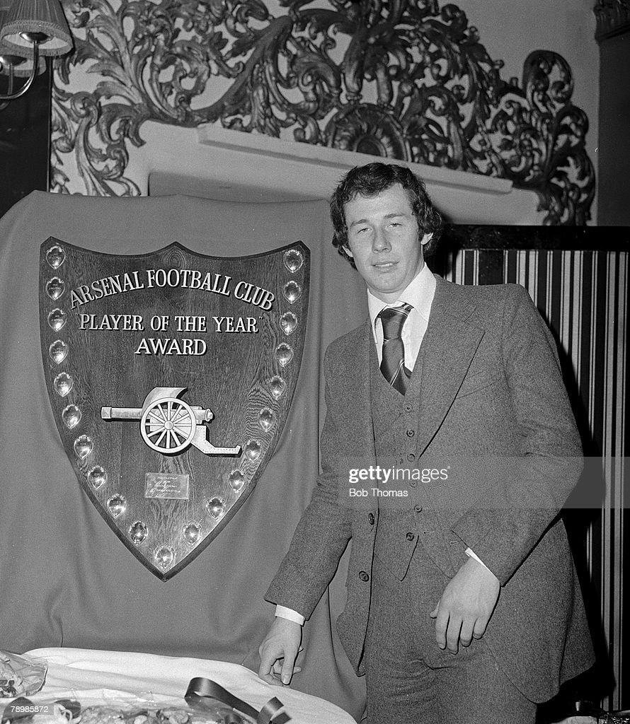 Sport. Football. pic: circa 1978. Arsenal midfielder Liam Brady, the clubs player of the year on three occasions. : News Photo