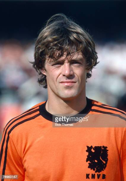 circa 1978 Johnny Rep Holland who won 42 Dutch international caps one of their star players of the 1974 1978 World Cup Finals