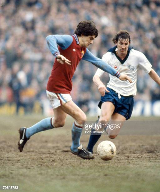 circa 1979 Division 1 Aston Villa's Brian Little left challenged by Derby County's Barry Powell Brian Little Aston Villa 19711980 who won 1 solitary...