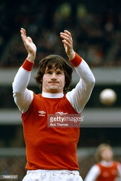 circa 1979 Pat Rice Arsenal full back who played for the Gunners 19651981 and won 49 Northern Ireland caps between 19691980