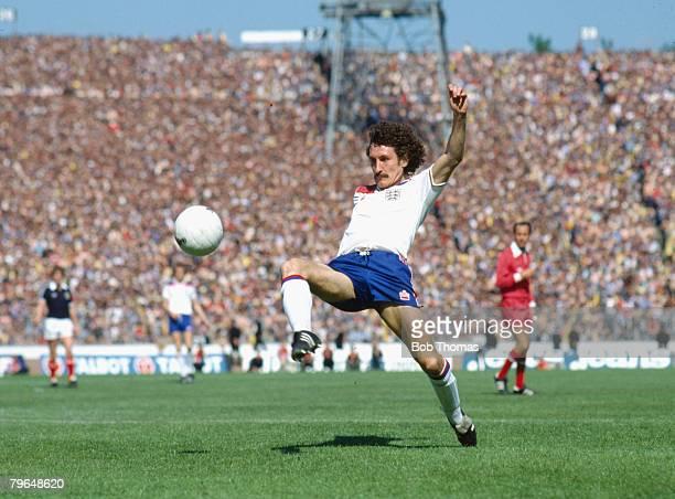 circa 1980 British Championship at Hampden Park Scotland v England Terry McDermott England who won 25 England international caps between 19781982