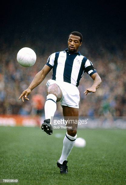 circa 1980 Cyrille Regis West Bromwich Albion striker who won 5 England international caps between 19821988