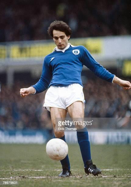 circa 1980 Imre Varadi Everton striker