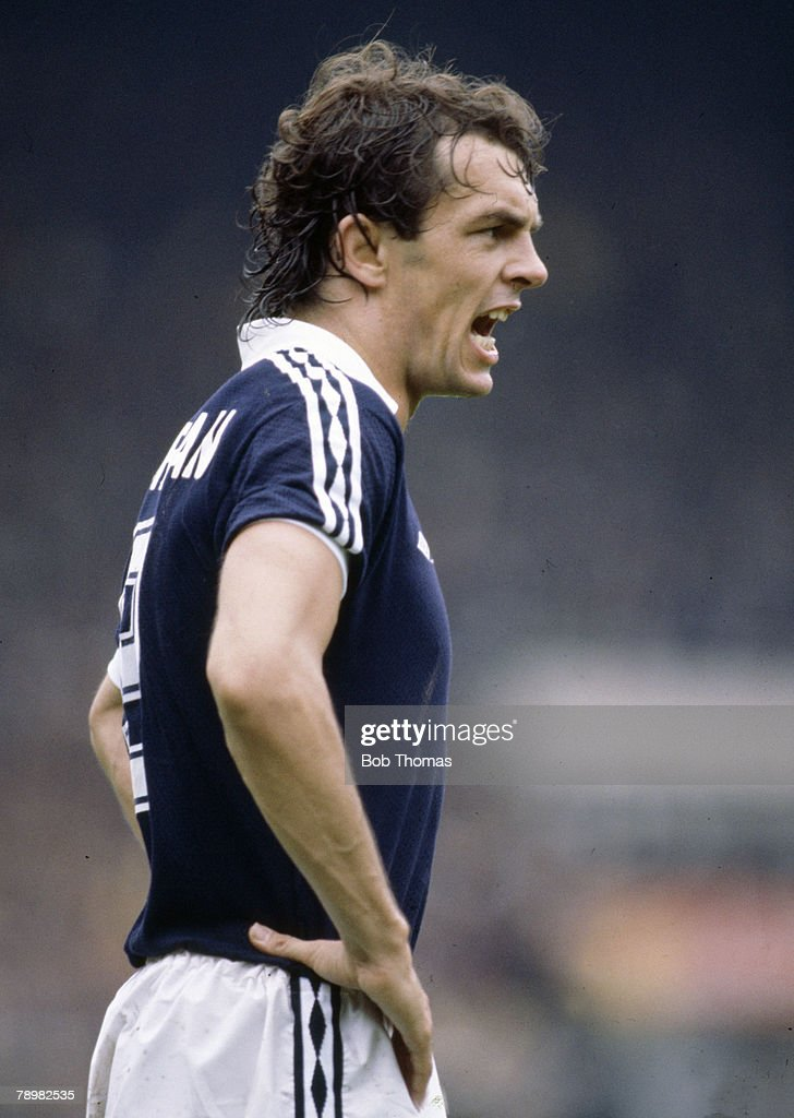 Sport. Football. pic: circa 1980. International Match. Joe Jordan, Scotland, who played in 52 international matches for Scotland between 1973-1982. : News Photo