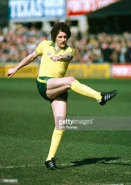 Circa 1980, John McDowell, Norwich City 1979-1980, who played most of his careeer at West Ham United 1970-1978
