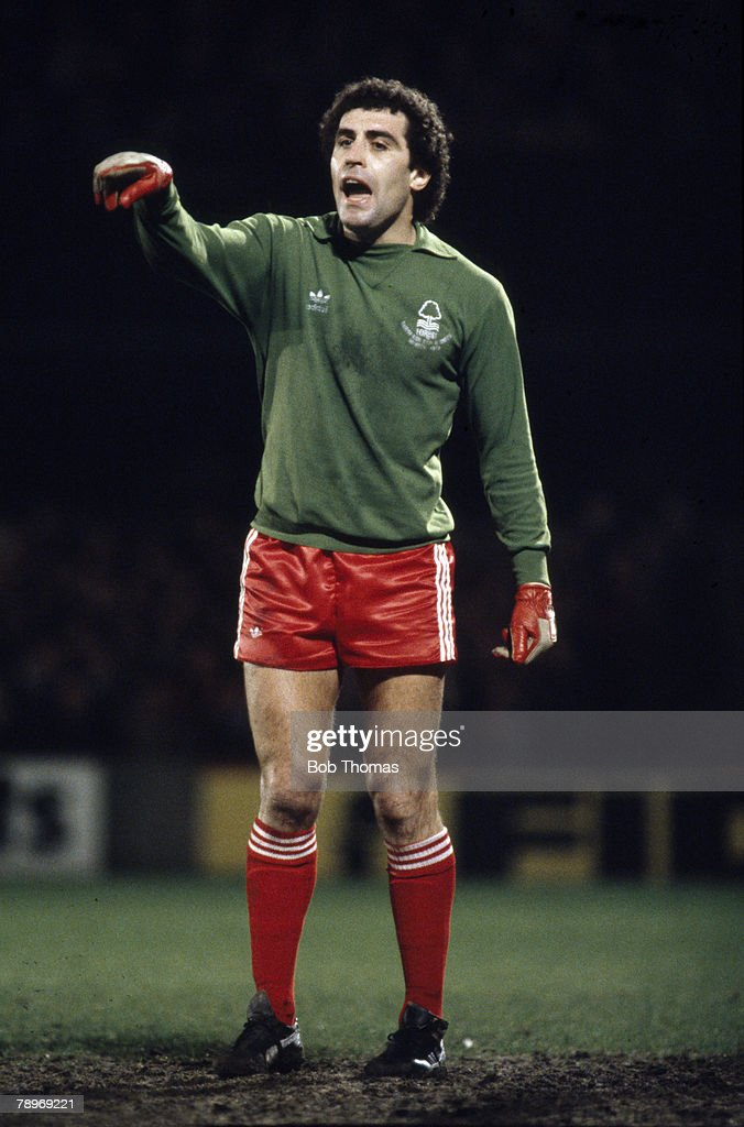 Sport. Football. pic: circa 1980. Peter Shilton, Nottingham Forest goalkeeper, who also won 125 England international caps (a record for England) between 1971-1990. : News Photo
