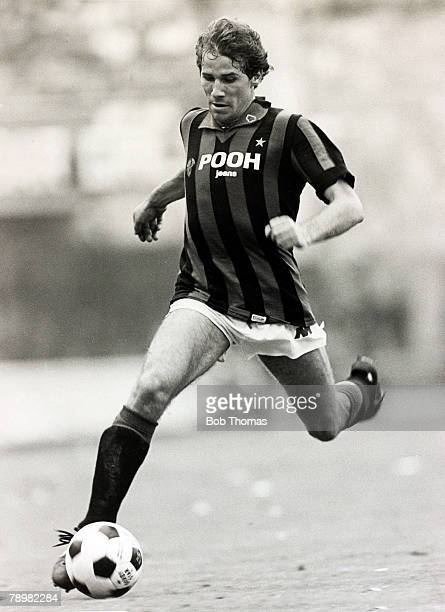 Circa 1980's, Franco Baresi, A,C,Milan, Franco Baresi was a stalwart in the AC, Milan defence for many years and a regular Italian international...