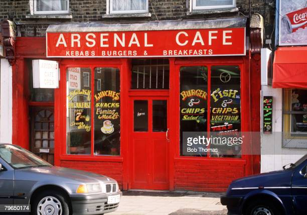 circa 1980's The Arsenal cafe in North London