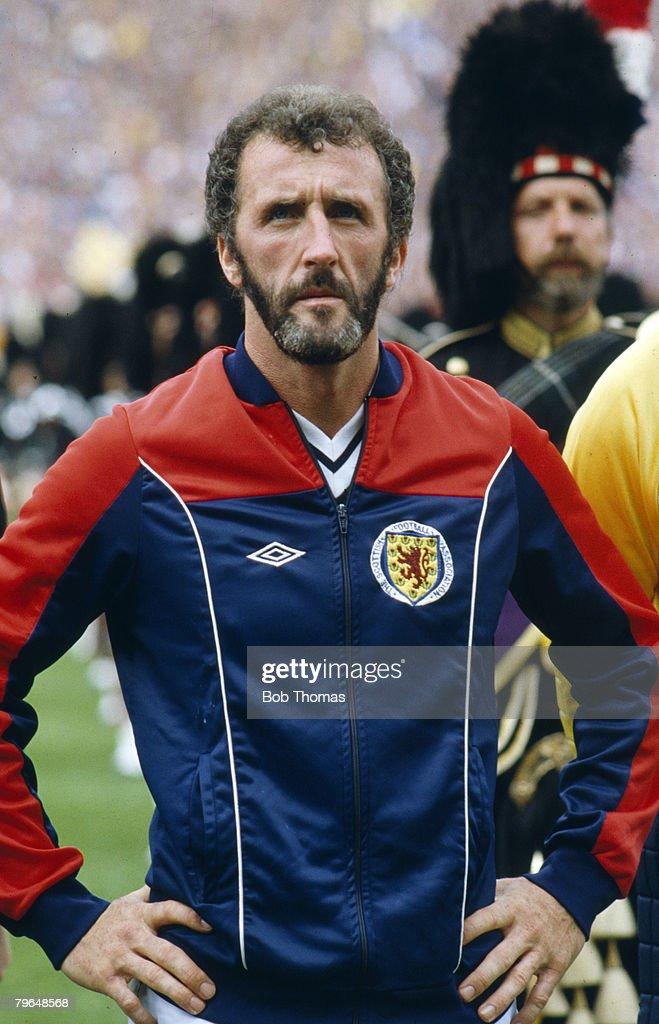circa 1981, Danny McGrain, Scotland full back, who won 62 Scotland international caps between 1973-1982