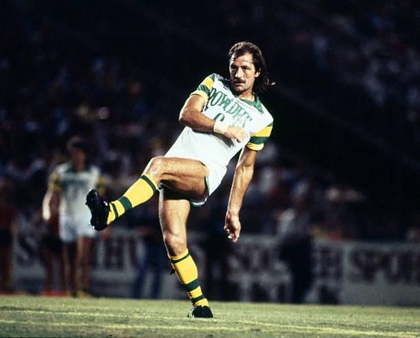 Circa 1981, Frank Worthington, Tampa Bay Rowdies, Frank Worthington won 8 England international caps between 1974-1975