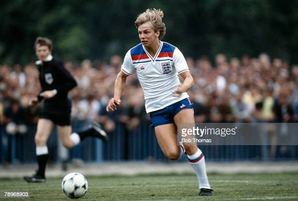 circa 1982 Gary Shaw England Under21 who played 7 times for England at Under21 level