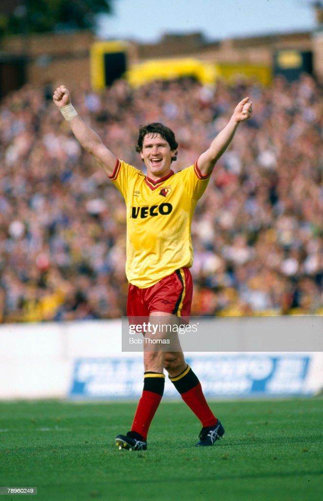 circa 1982, Pat Rice, Watford full back, Pat Rice played for Arsenal 1965-1981 and won 49 Northern Ireland caps between 1969-1980