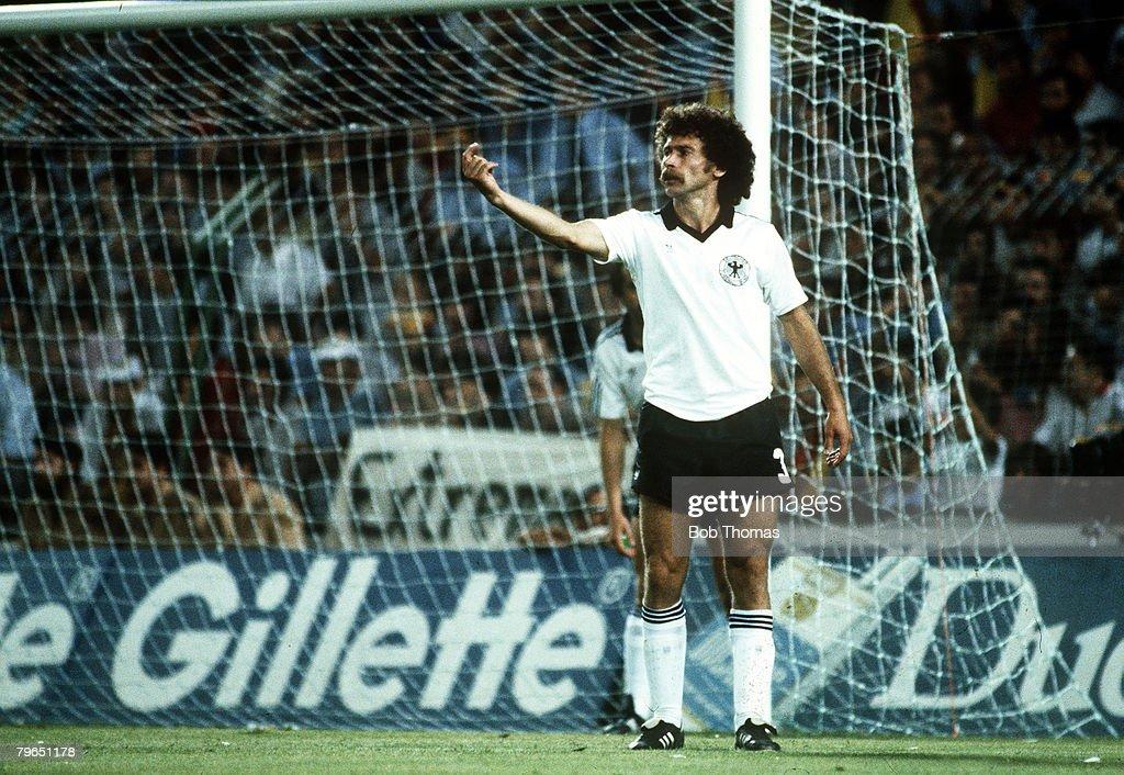 Sport, Football, pic: circa 1982, Paul Breitner, West Germany : News Photo