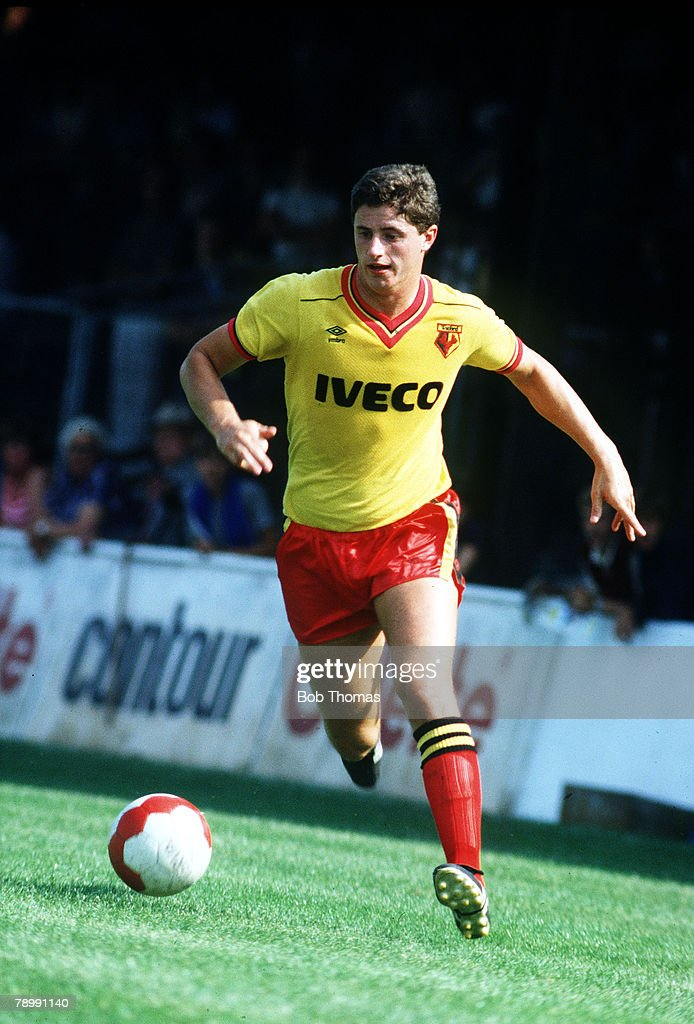 Sport. Football. pic: circa 1983. Jimmy Gilligan, Watford striker. : News Photo