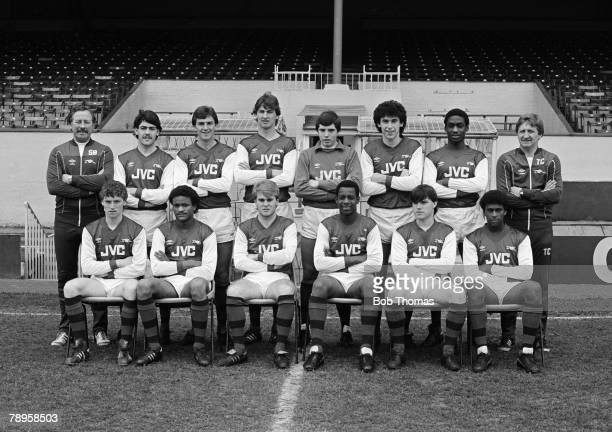 circa 1984 Arsenal Youth team 19831984 Players include David Rocastle Michael Thomas Tony Adams Martin Keown