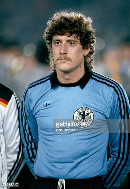circa 1984 Harald Schumacher West Germany goalkeeper who won 76 international caps for West Germany and played in 2 World Cups 1982 a losing finalist...
