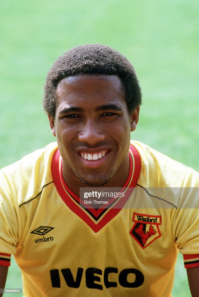 Sport. Football. pic: circa 1985. John Barnes, Watford, portrait. : News Photo