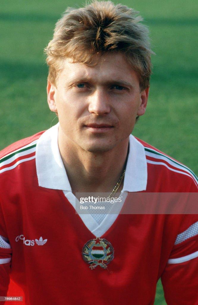 Sport. Football. pic: circa 1985. Lajos Detari, Hungary. : News Photo