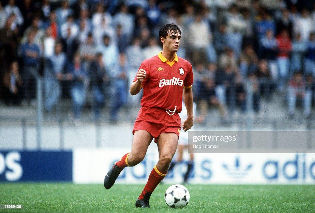 Sport. Football. pic: circa 1987. Giuseppe Giannini, AS. Roma. : News Photo