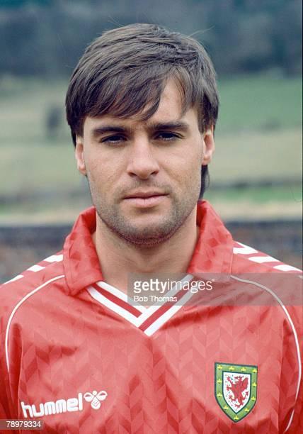 circa 1987 Pat Van Den Hauwe Wales full back Pat Van Den Hauwe won 13 Welsh international caps between 19851989